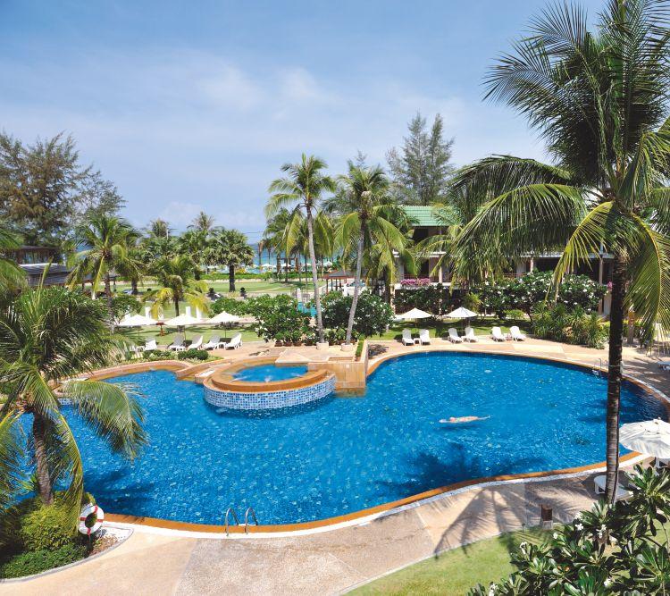 hotels in kata thani phuket beach resort wereldreizen. Black Bedroom Furniture Sets. Home Design Ideas