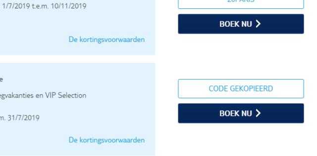 Kopieer de kortingscode