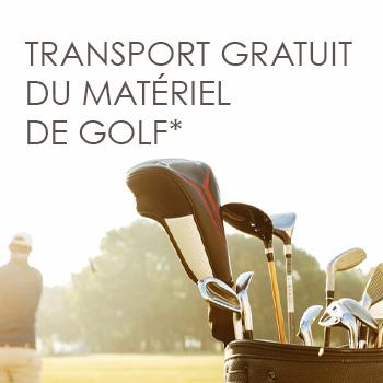 Transport gratuit du matériel de golf*
