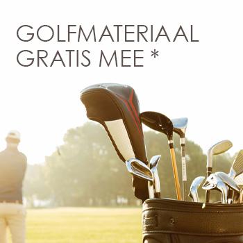 Golfmateriaal gratis mee*