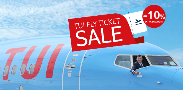 TUI fly ticket sale: -10% reduction