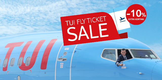 TUI fly ticket sale: -10% extra korting